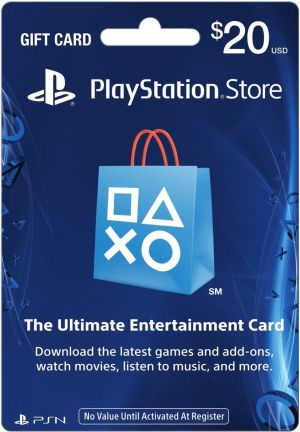 (PS4/PS3/PSV/PSP)PLAYSTATION STORE GIFT CARD $20(北米版)